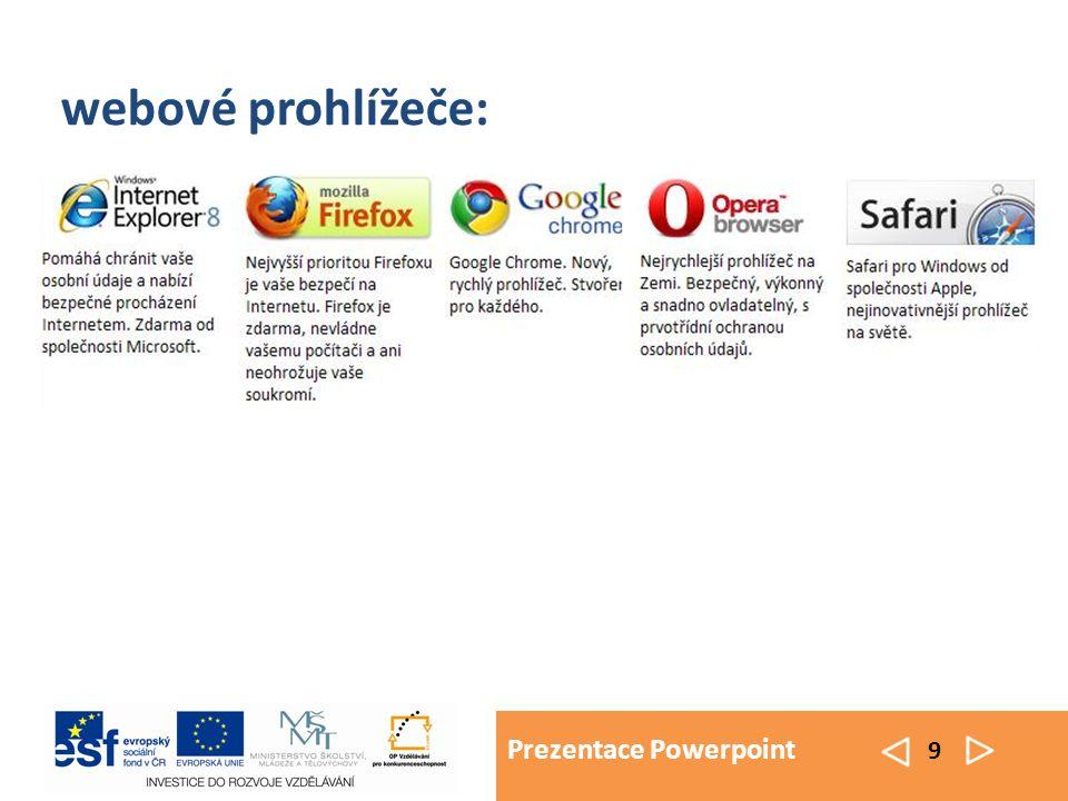 Prezentace Powerpoint 10 internetové vyhledávače: Google Seznam Centrum Yahoo Atlas Alta Vista a další