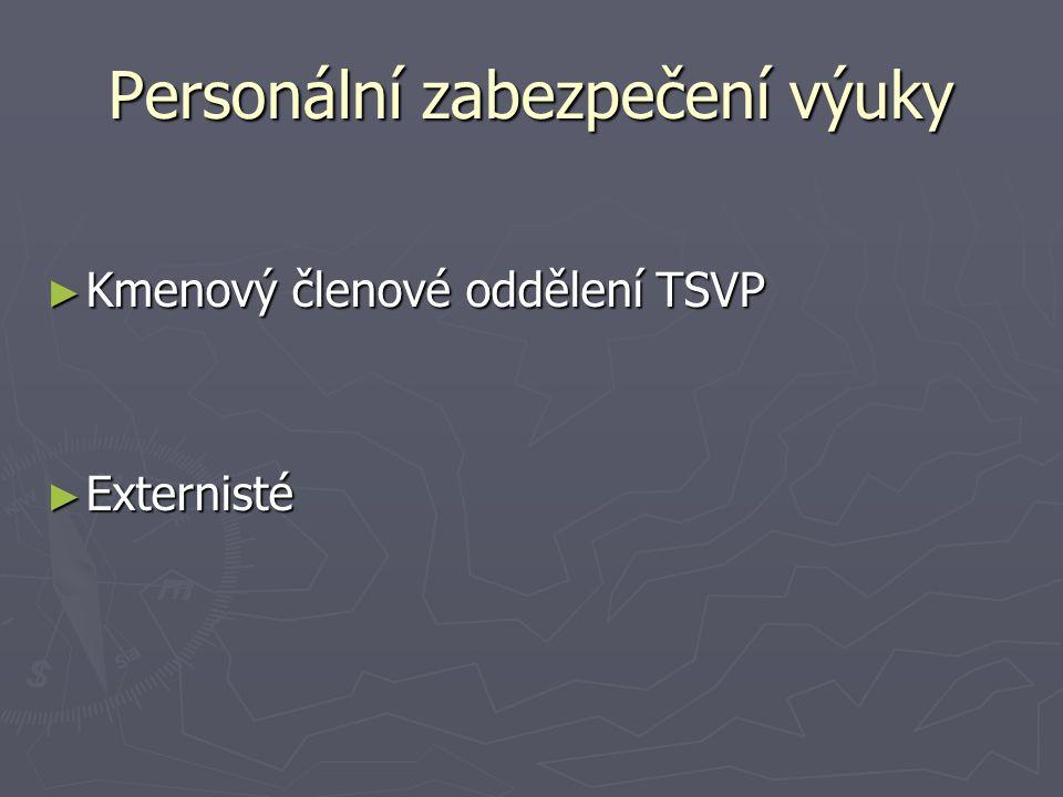 Personální zabezpečení výuky ► Kmenový členové oddělení TSVP ► Externisté