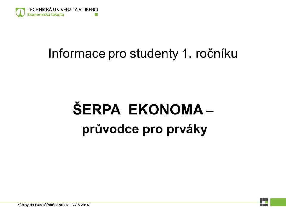 Informace pro studenty 1.