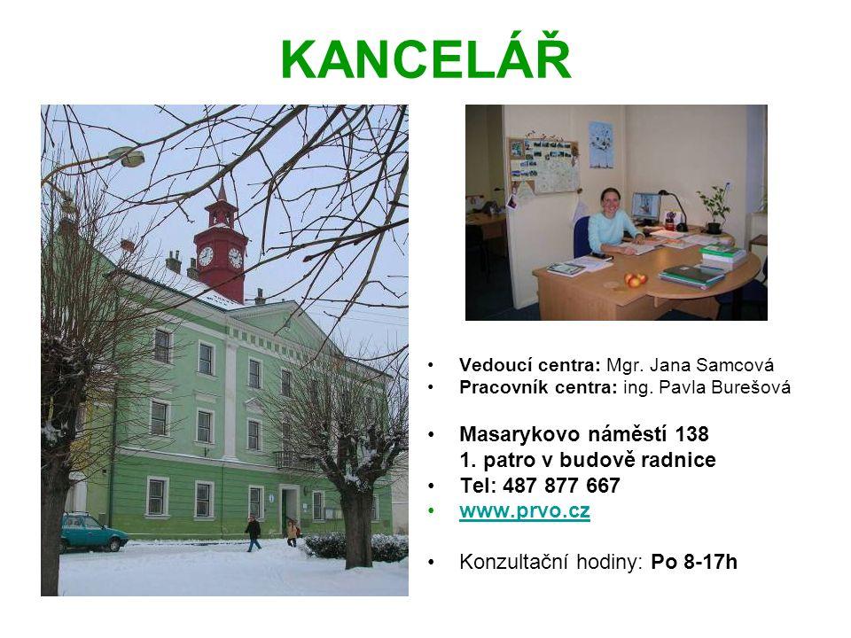 KANCELÁŘ Vedoucí centra: Mgr. Jana Samcová Pracovník centra: ing.