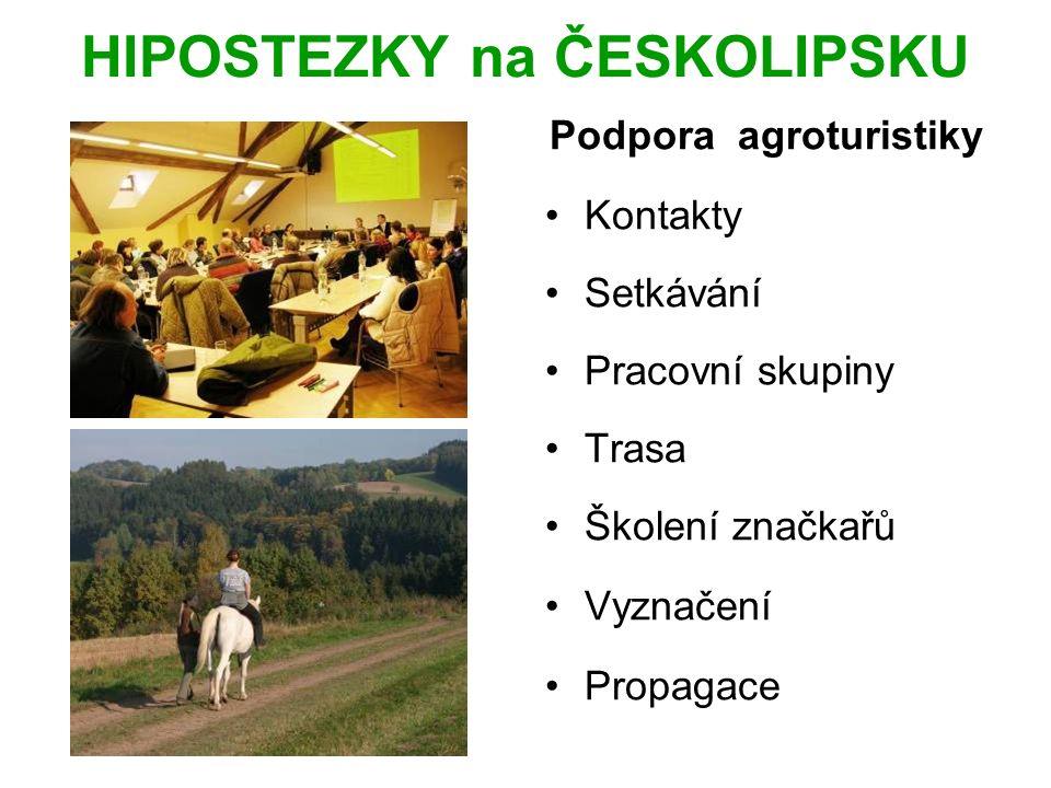 HIPOSTEZKY na ČESKOLIPSKU Podpora agroturistiky Kontakty Setkávání Pracovní skupiny Trasa Školení značkařů Vyznačení Propagace