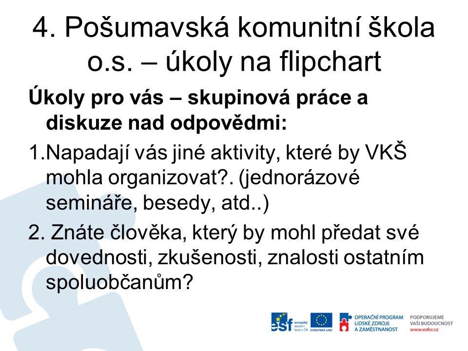 4. Pošumavská komunitní škola o.s.