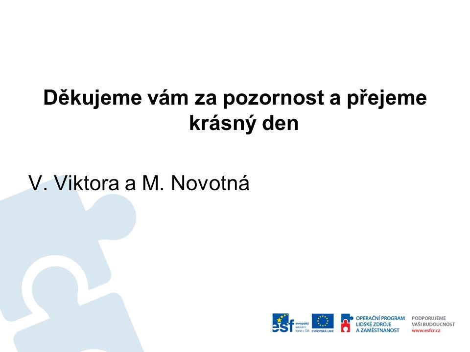 Děkujeme vám za pozornost a přejeme krásný den V. Viktora a M. Novotná