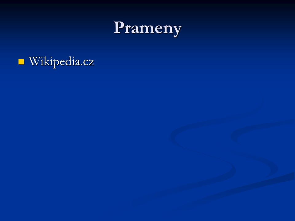 Prameny Wikipedia.cz Wikipedia.cz