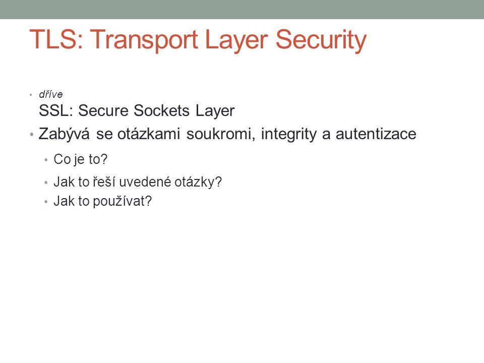 Co je TLS.