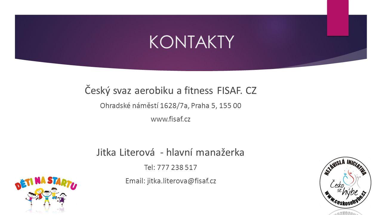 KONTAKTY Český svaz aerobiku a fitness FISAF.