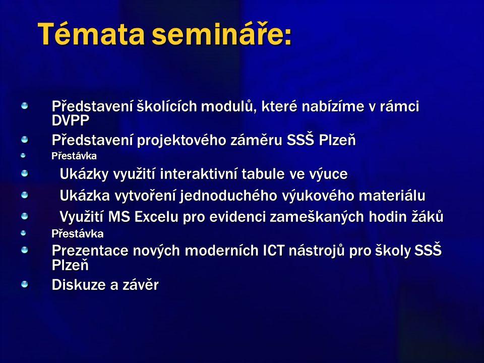 Prosím, vypněte si nebo ztište mobilní telefony Prezentace bude vystavena na webu www.sszp.kt.cz Zapište se do prezenční listiny Dodržujte následující pokyny