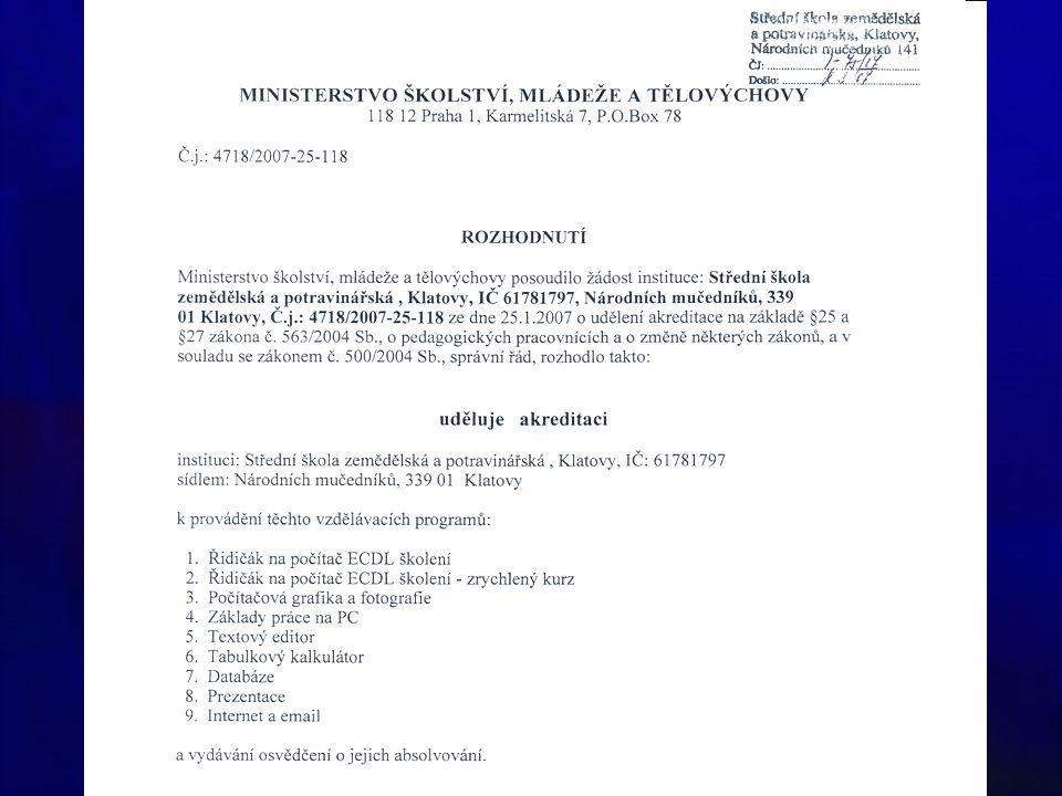 """Představení projektového záměru SSŠ Plzeň Zdeněk Pech """"Vzdělávací systém ICT pro pedagogy škol Plzeňského kraje škol Plzeňského kraje"""