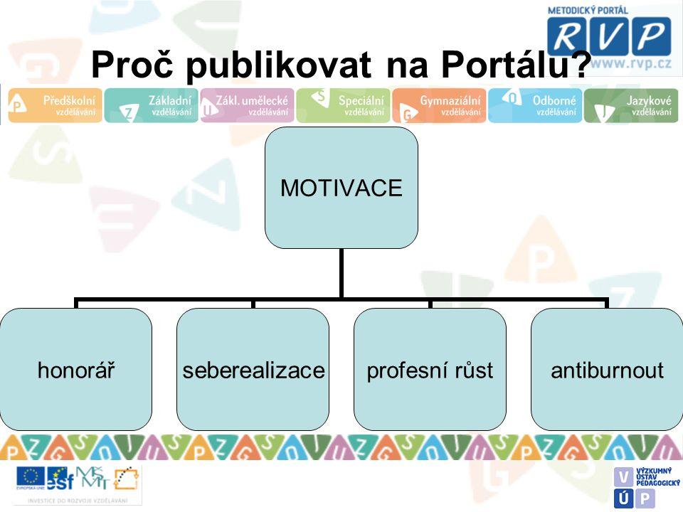 Proč publikovat na Portálu? MOTIVACE honorářseberealizaceprofesní růstantiburnout