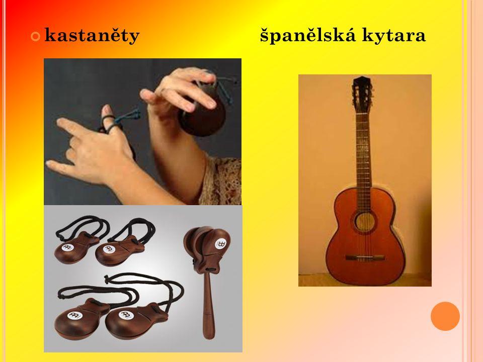 kastaněty španělská kytara