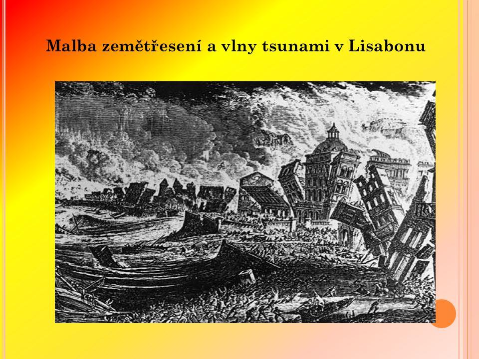 Malba zemětřesení a vlny tsunami v Lisabonu