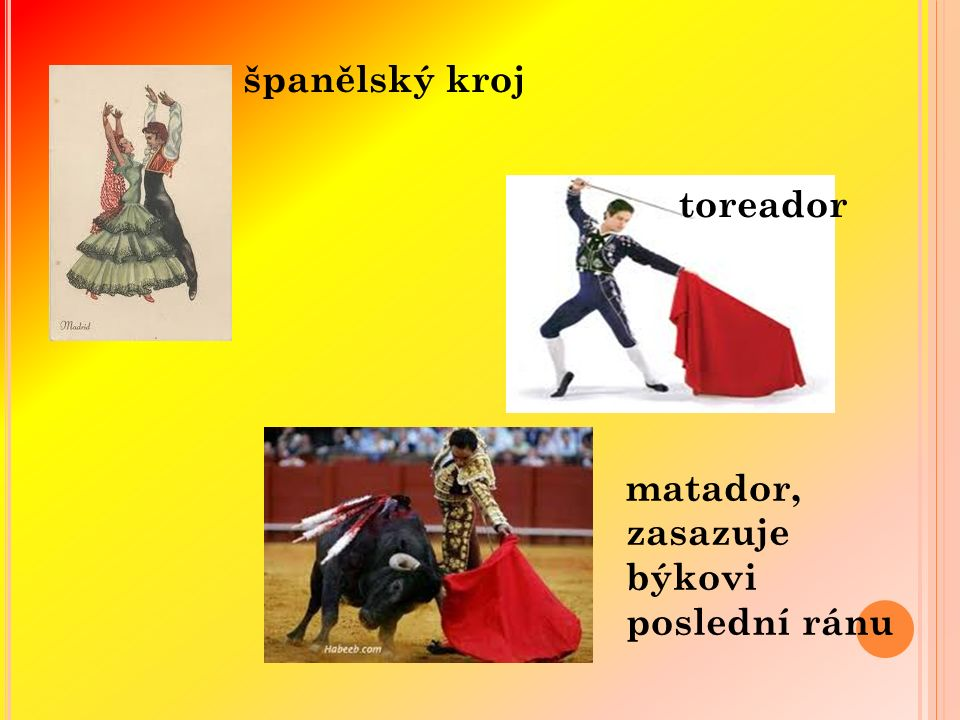 španělský kroj toreador matador, zasazuje býkovi poslední ránu
