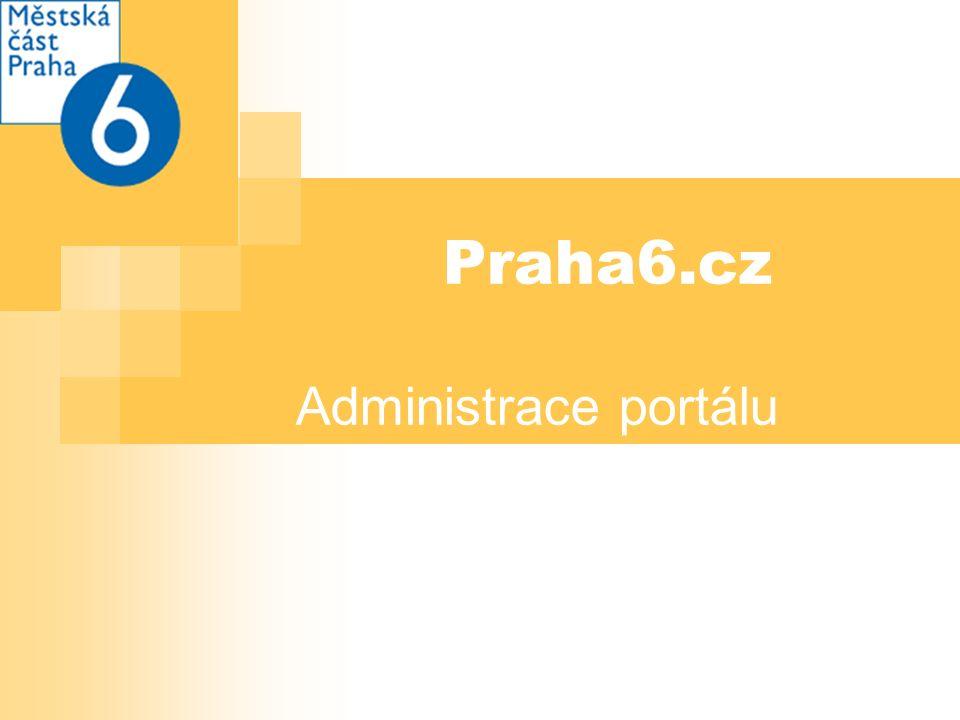Praha6.cz Administrace portálu