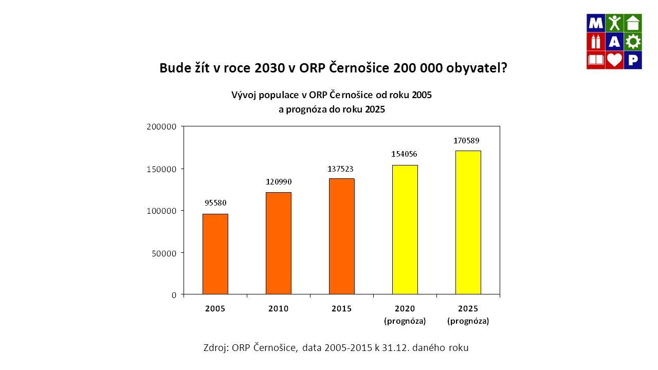 Bude žít v roce 2030 v ORP Černošice 200 000 obyvatel.