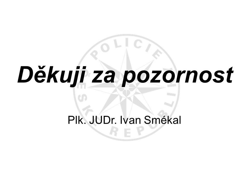 Děkuji za pozornost Plk. JUDr. Ivan Smékal
