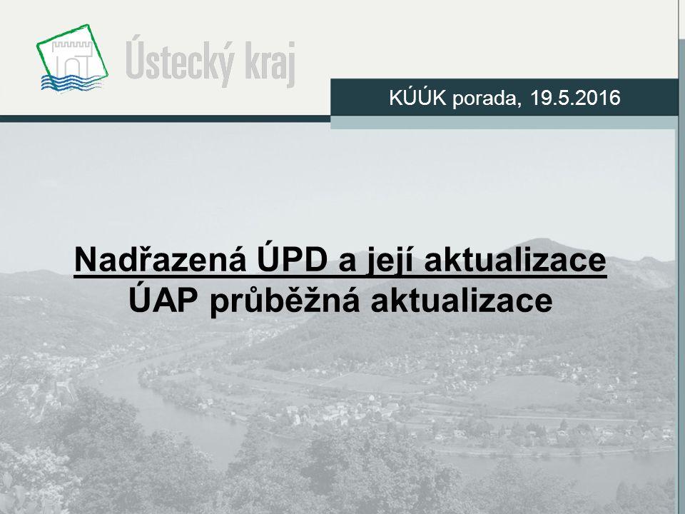 Nadřazená ÚPD a její aktualizace ÚAP průběžná aktualizace KÚÚK porada, 19.5.2016