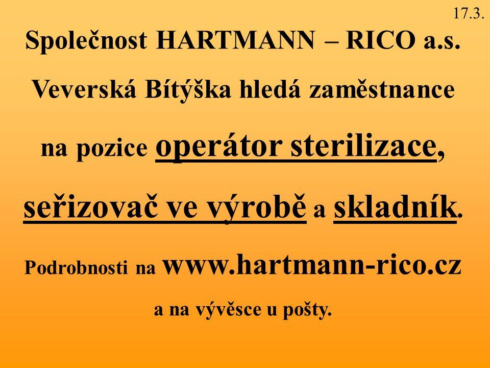 Společnost HARTMANN – RICO a.s.