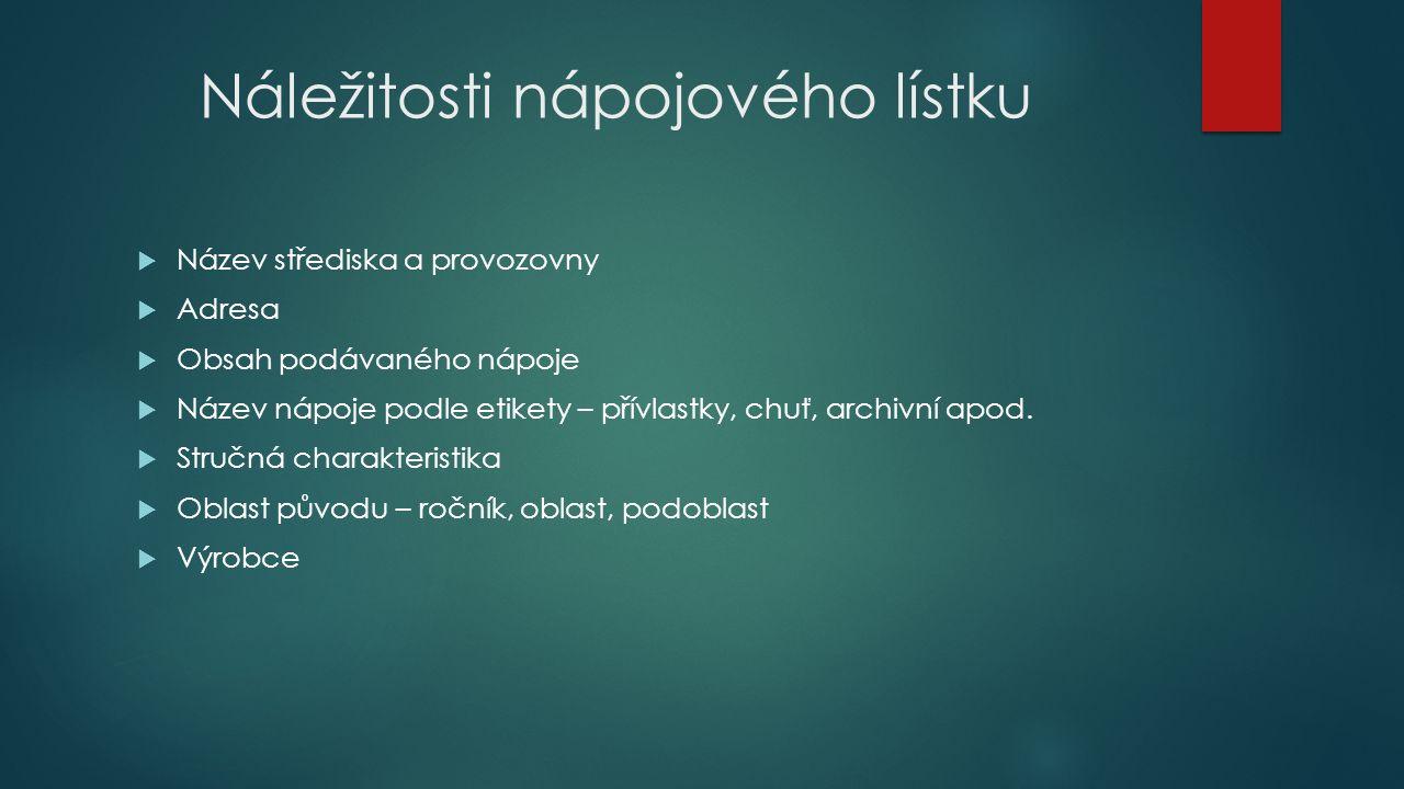 Úkoly 1) Urči správné pořadí pokrmů na vinárenském jídelním lístku.