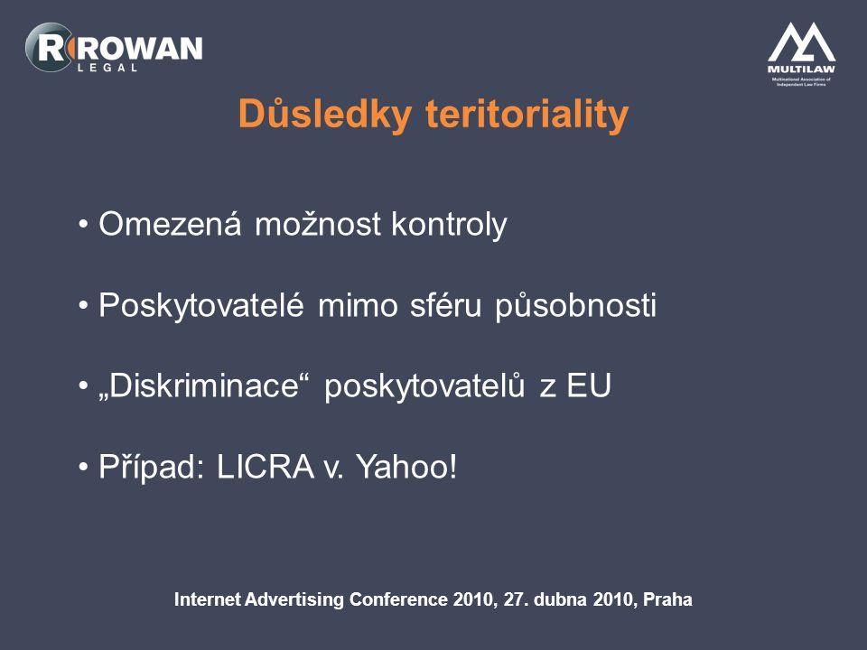 Identifikační povinnosti Internet Advertising Conference 2010, 27.