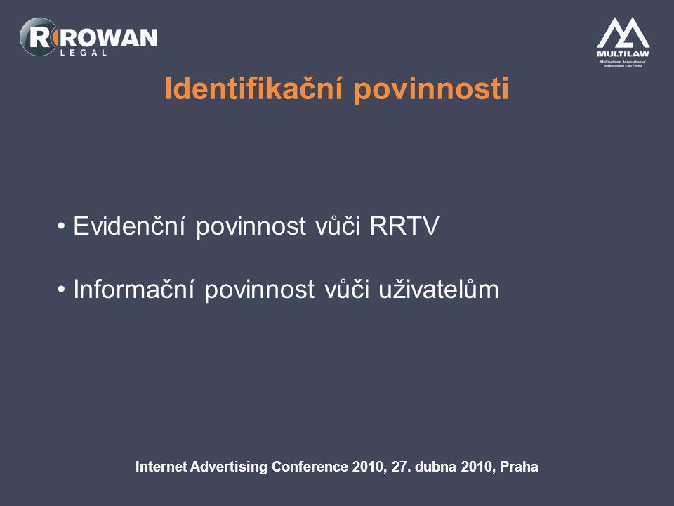 Omezení obsahu AVS Internet Advertising Conference 2010, 27.