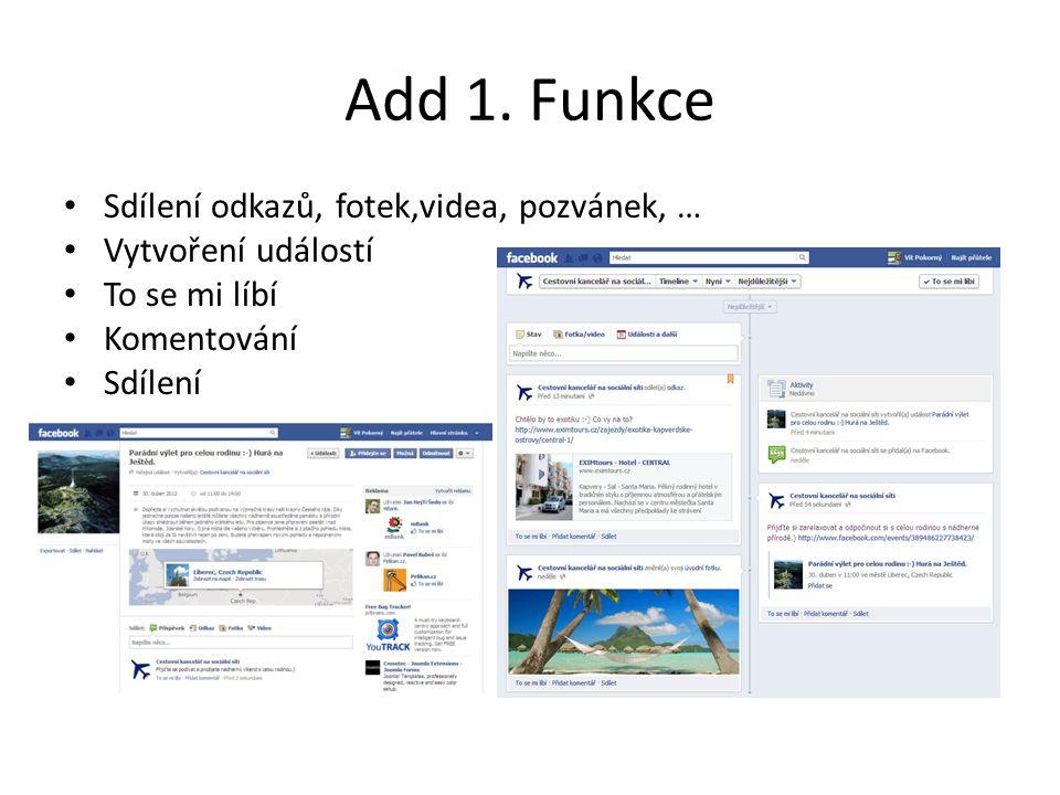 Add 1. Funkce Zvýraznit příspěvek na zdi Facebook stránky v Timeline.