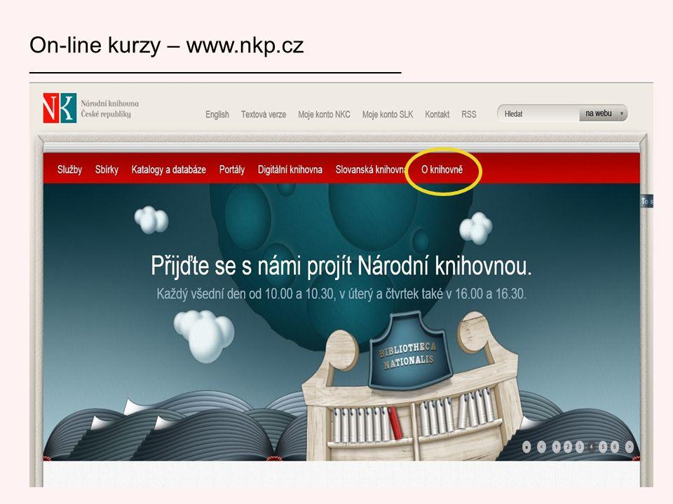 On-line kurzy – www.nkp.cz ___________________________________________________