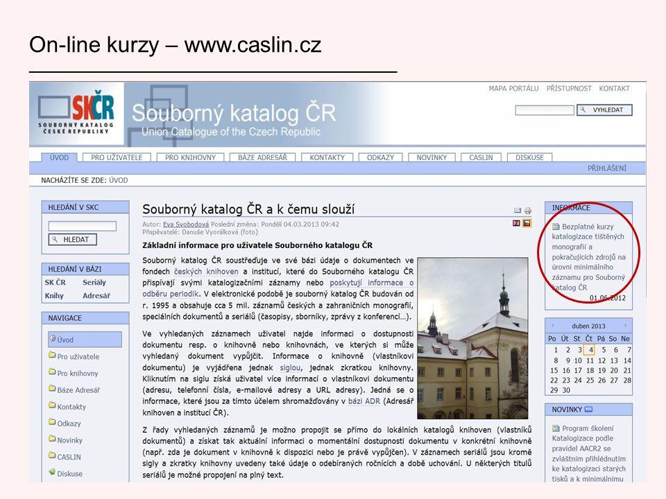 On-line kurzy – www.caslin.cz ___________________________________________________