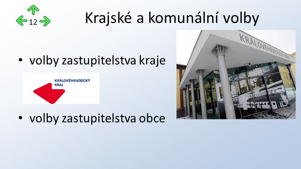 volby zastupitelstva kraje volby zastupitelstva obce Krajské a komunální volby 12
