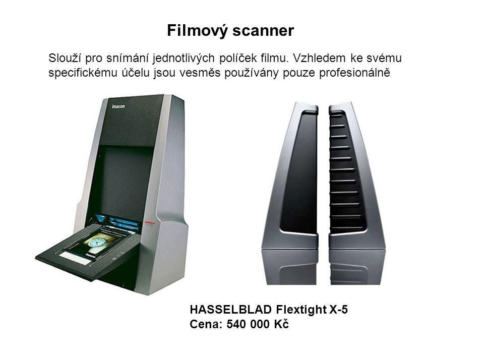 Filmový scanner Slouží pro snímání jednotlivých políček filmu.