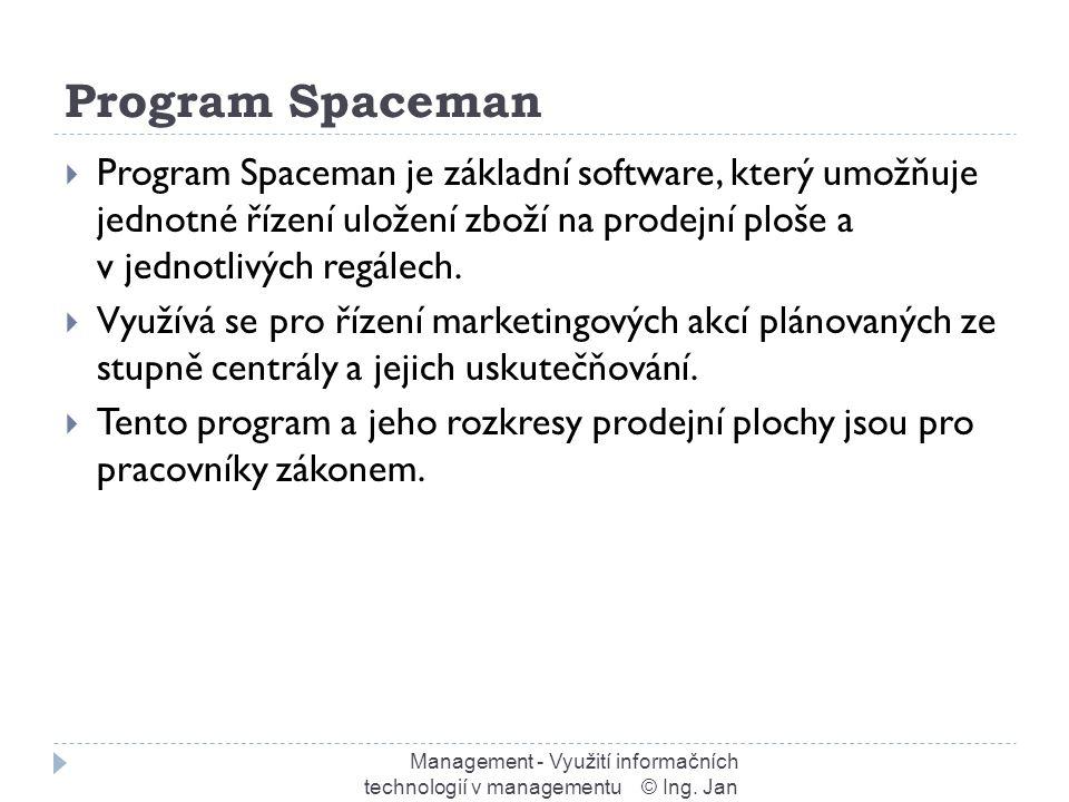 Program Spaceman Management - Využití informačních technologií v managementu © Ing.