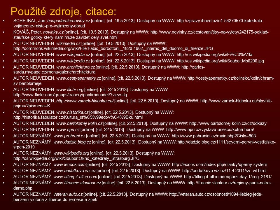 Použité zdroje, citace: SCHEJBAL, Jan. hospodarskenoviny.cz [online].
