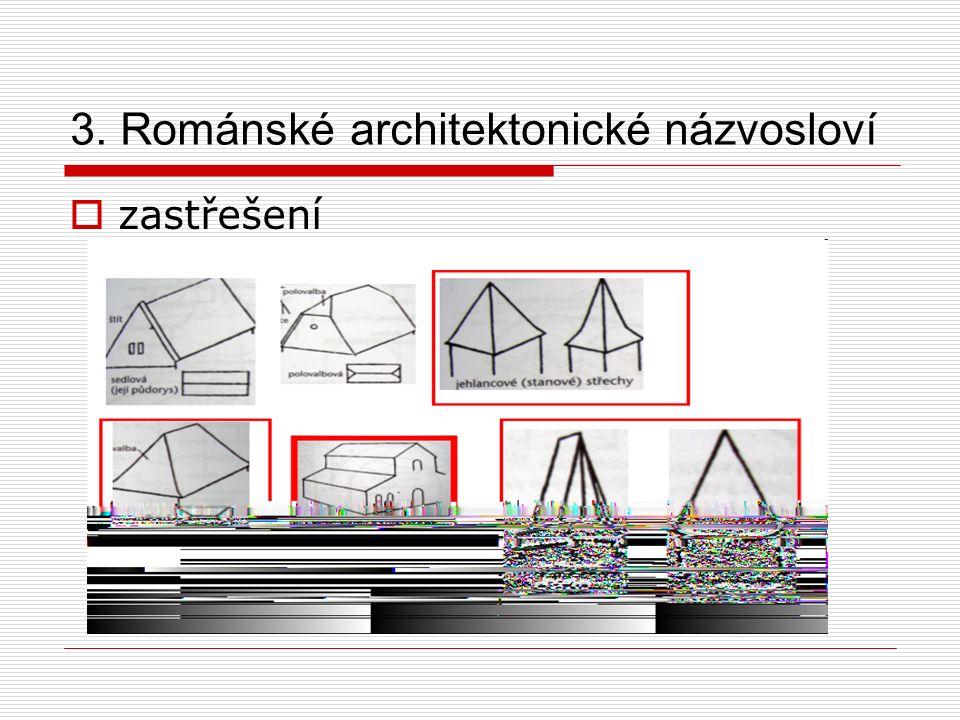 3. Románské architektonické názvosloví  zastřešení