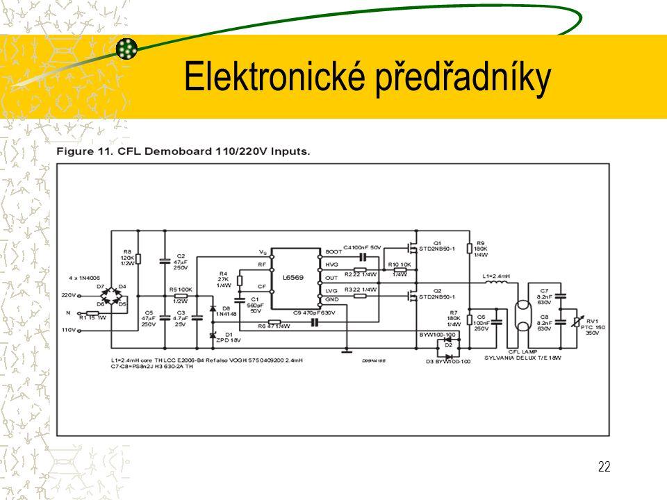 22 Elektronické předřadníky