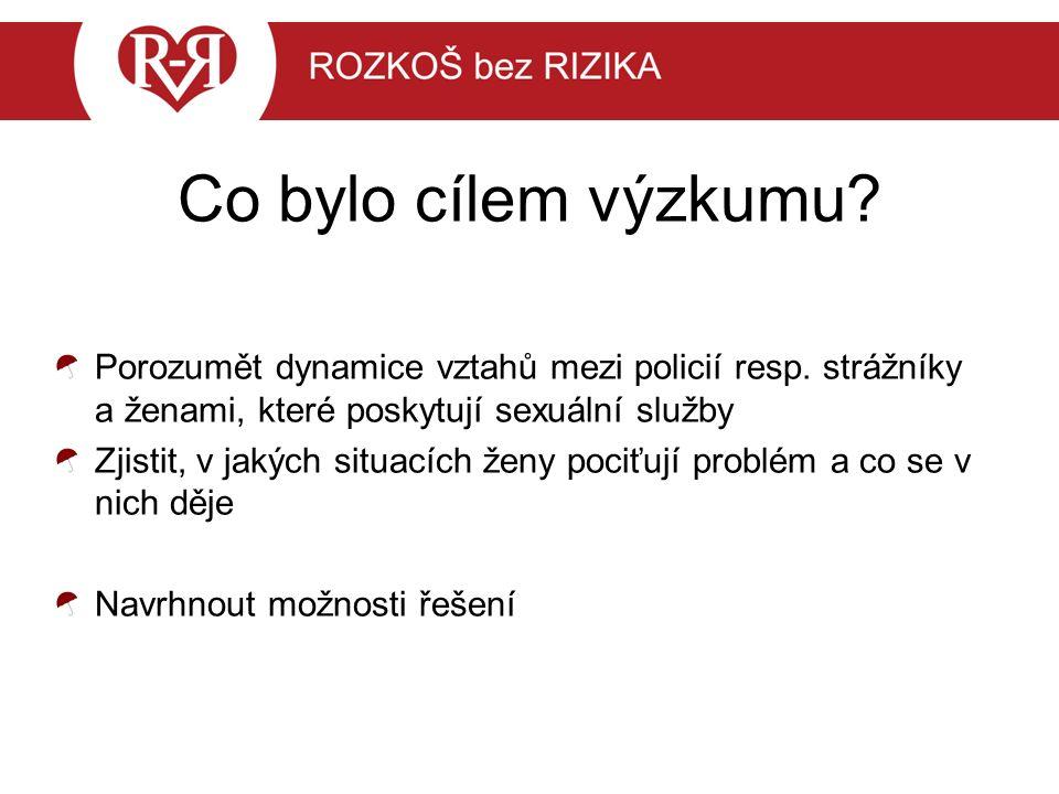 Co bylo cílem výzkumu. Porozumět dynamice vztahů mezi policií resp.