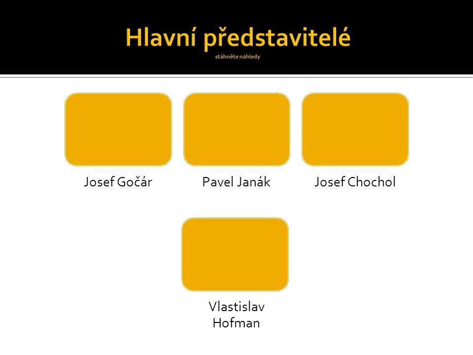 Josef GočárPavel JanákJosef Chochol Vlastislav Hofman