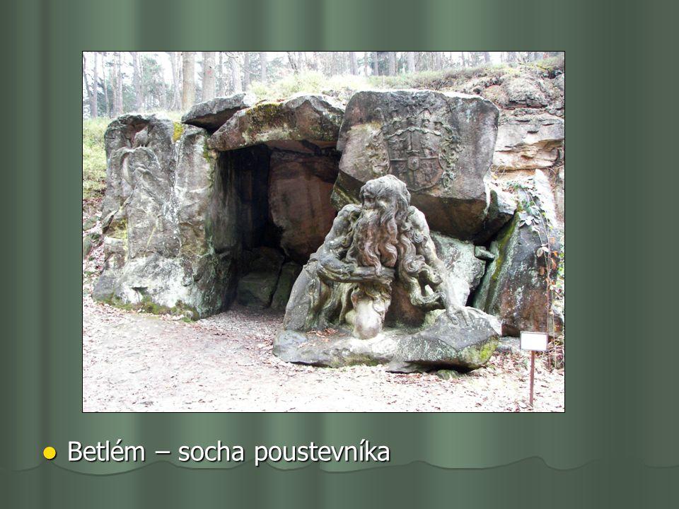 Betlém – socha poustevníka Betlém – socha poustevníka