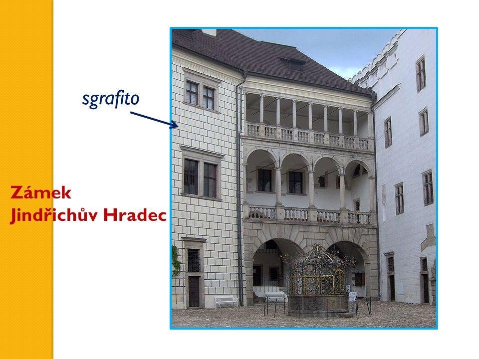 Zámek Jindřichův Hradec sgrafito