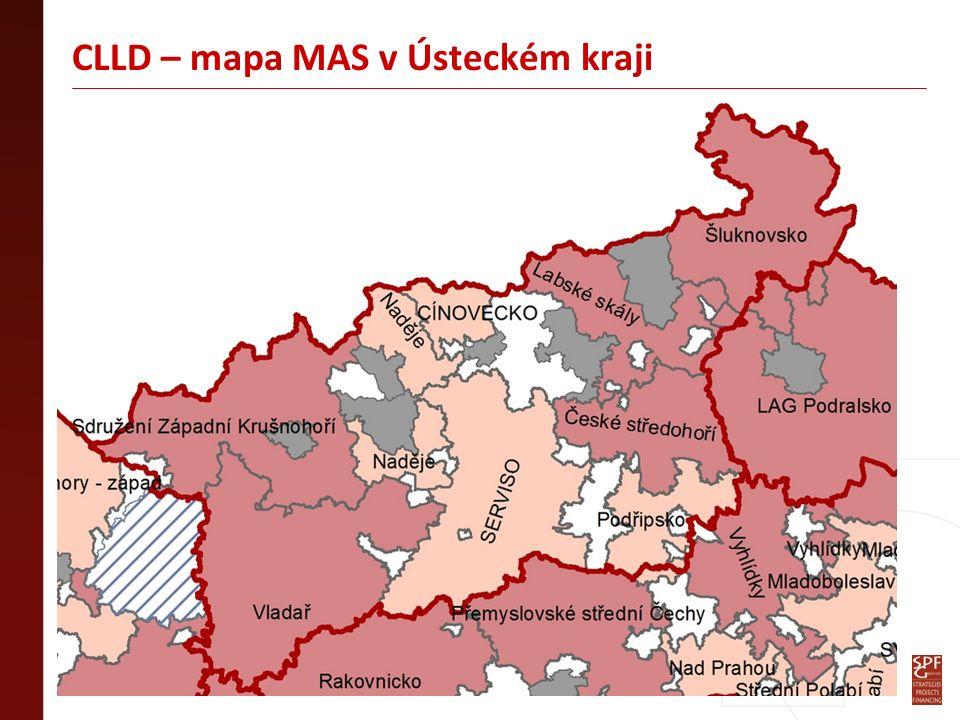 CLLD – mapa MAS v Ústeckém kraji