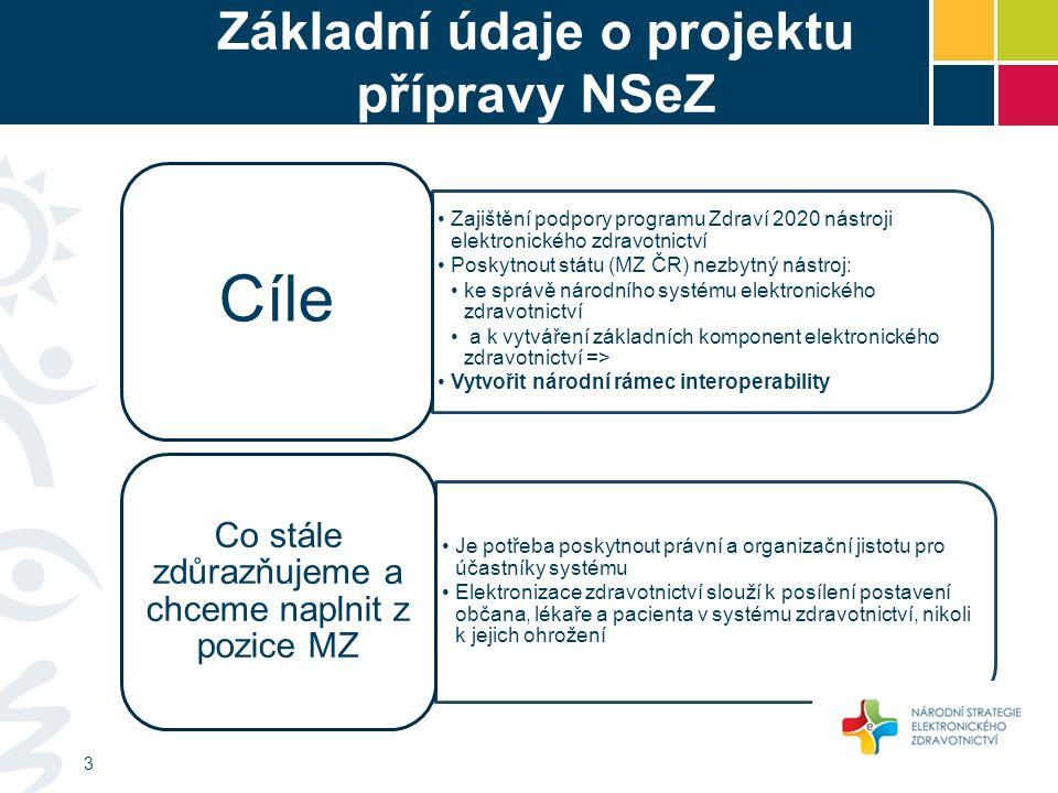 Základní údaje o projektu přípravy NSeZ Zadavatel – Ministerstvo zdravotnictví Gestor – náměstek pro strategie Mgr.