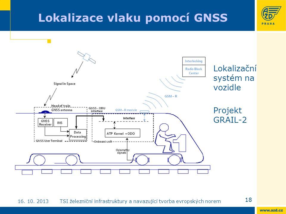 Lokalizace vlaku pomocí GNSS Lokalizační systém na vozidle Projekt GRAIL-2 18 16.