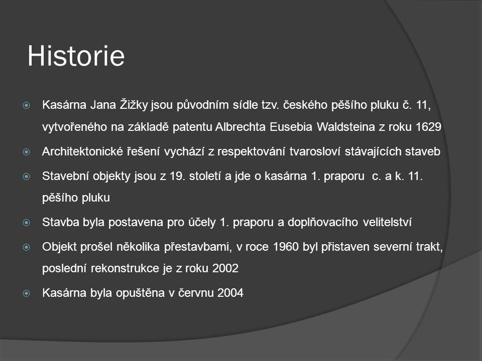 Historie  Kasárna Jana Žižky jsou původním sídle tzv.