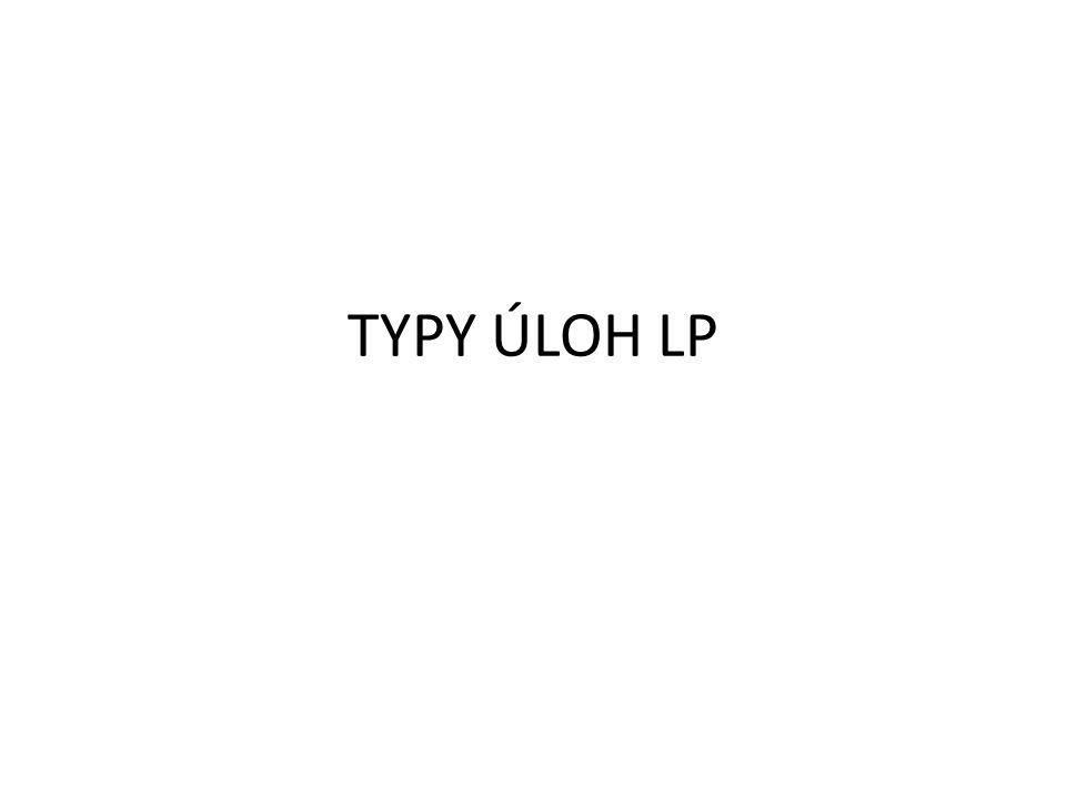 TYPY ÚLOH LP