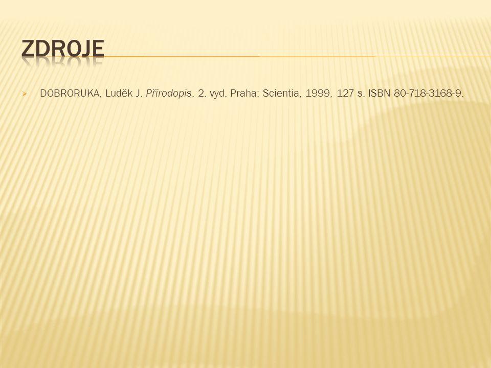  DOBRORUKA, Luděk J. Přírodopis. 2. vyd. Praha: Scientia, 1999, 127 s. ISBN 80-718-3168-9.