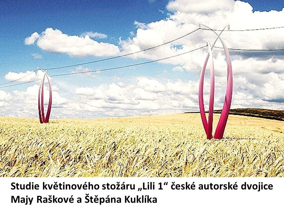"""Studie květinového stožáru """"Lili 1 české autorské dvojice Majy Raškové a Štěpána Kuklíka"""