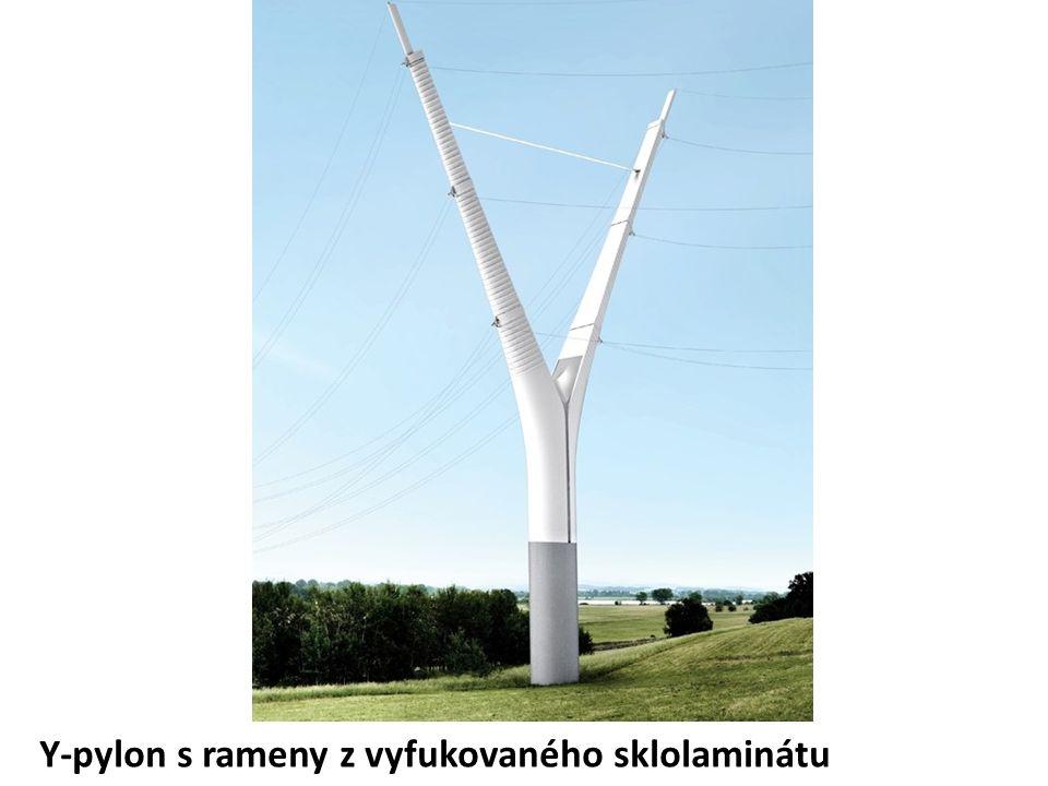 Y-pylon s rameny z vyfukovaného sklolaminátu