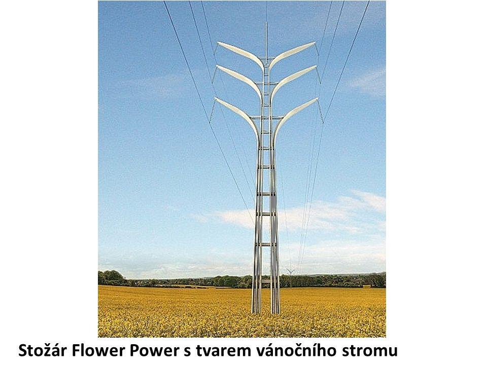 Stožár Flower Power s tvarem vánočního stromu