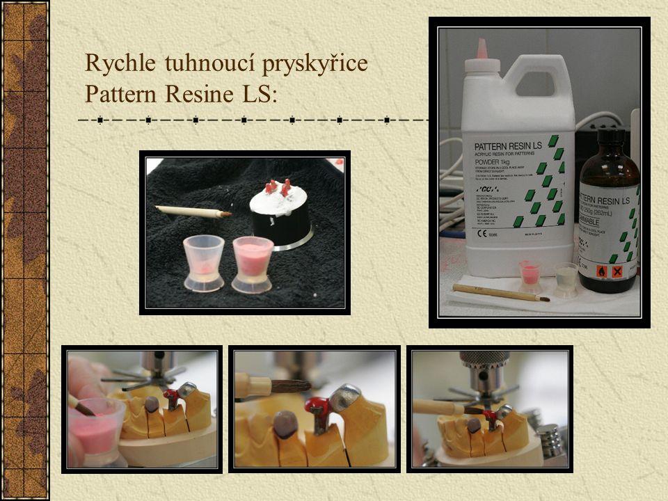 Připevnění primárního dílu k růžici paralelometru Pattern Resinem: