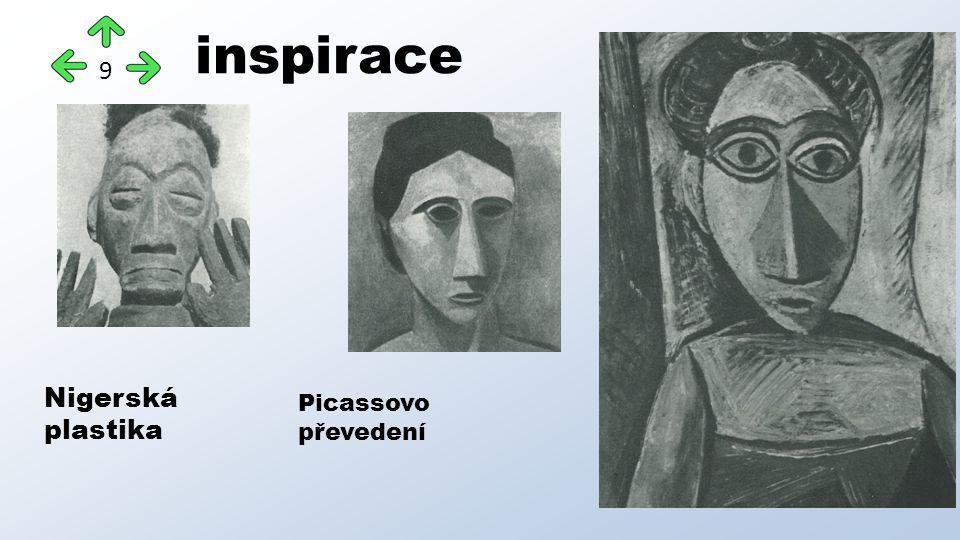 inspirace 9 Nigerská plastika Picassovo převedení