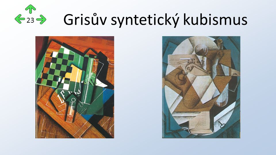 Grisův syntetický kubismus 23