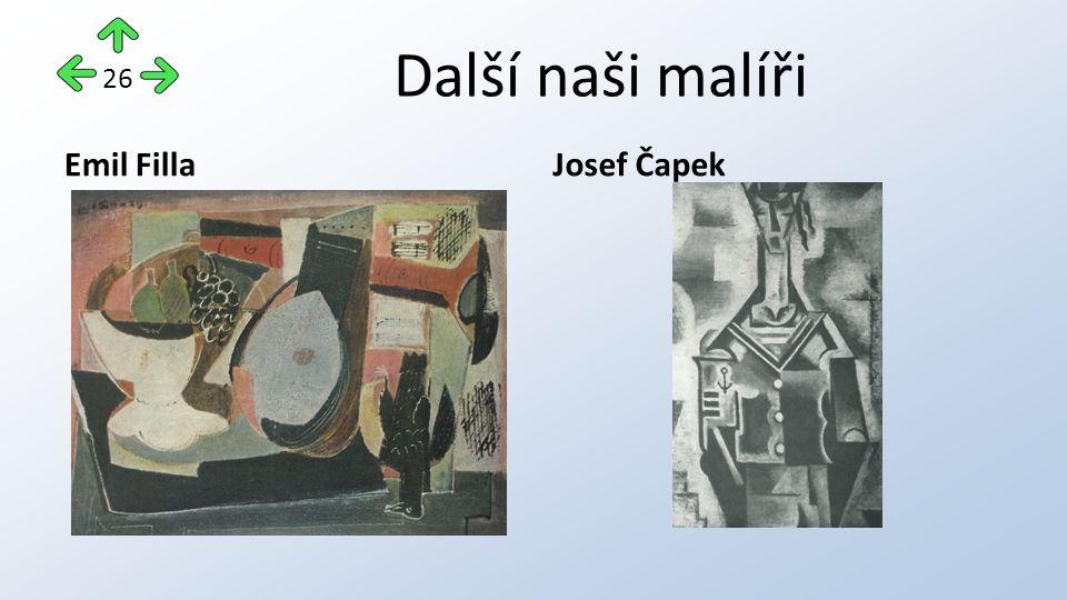 Další naši malíři Emil FillaJosef Čapek 26